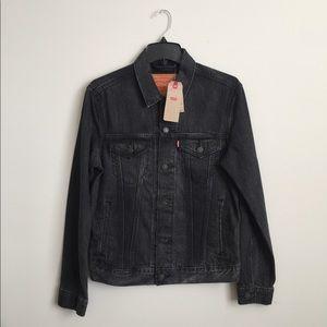 Levi's Size Small Black Faded Trucker Jacket